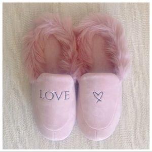 Victoria's Secret Velvet Slippers